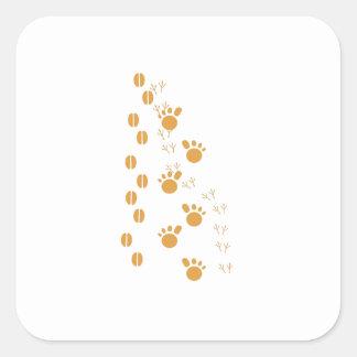 Brown Animal Tracks Sticker