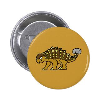 Brown Ankylosaurus 2 Inch Round Button