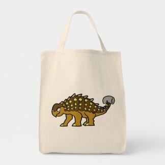 Brown Ankylosaurus Canvas Bag
