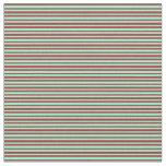 [ Thumbnail: Brown & Aquamarine Colored Lines Fabric ]