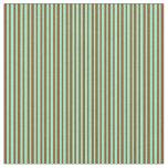 [ Thumbnail: Brown & Aquamarine Lined Pattern Fabric ]