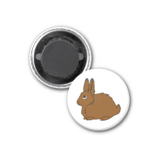 Brown Arctic Hare 1 Inch Round Magnet