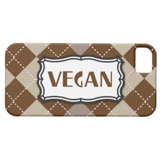 Brown Argyle Vegan Pride iPhone 5 Case