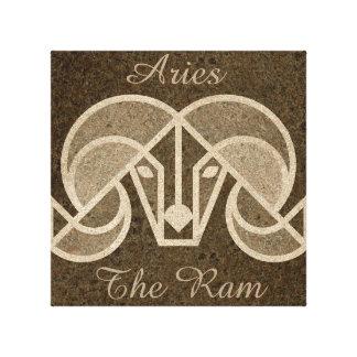 Brown Aries, The Ram Horoscope Astrology Wall Art