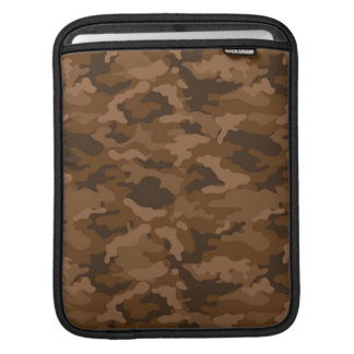 Brown Army Military Camo Camouflage Pattern Fabric iPad Sleeve