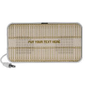 Brown art nouveau personalized text Doodle speaker