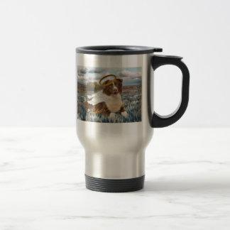 Brown Australian Shepherd Perfect Angel Gifts 15 Oz Stainless Steel Travel Mug