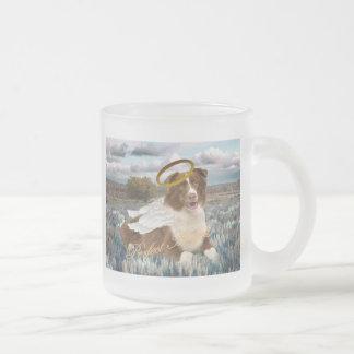 Brown Australian Shepherd Perfect Angel Gifts 10 Oz Frosted Glass Coffee Mug