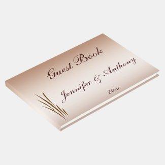 Brown Autumn Harvest Wedding Guest Book