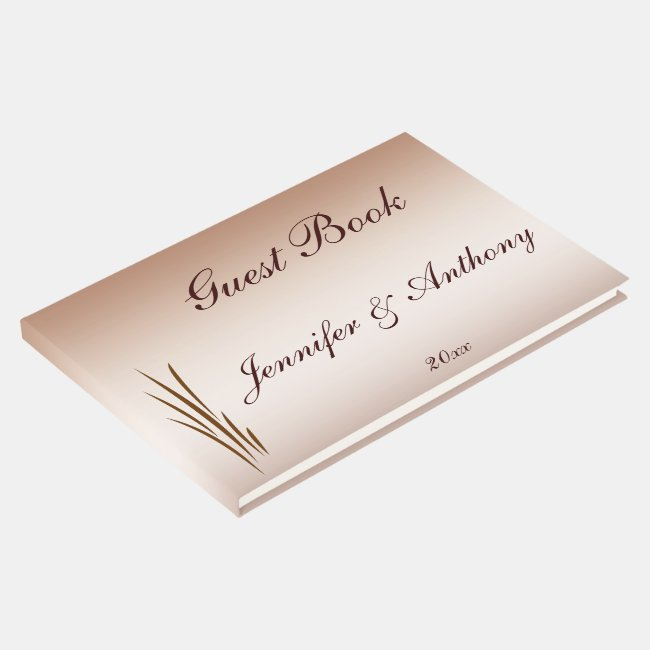 Brown Autumn Harvest Wedding Guest Book