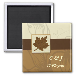brown Autumn  Save the date magnet