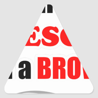 Brown Awesome Family Triangle Sticker