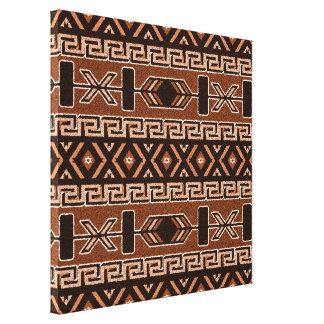 Brown Aztec Pattern Southwest Canvas Wall Art