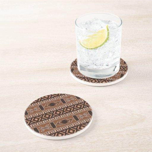 Brown Aztec Pattern Southwestern Design Drink Coaster Zazzle