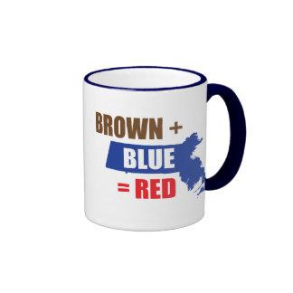 Brown + Azul = rojo Taza A Dos Colores