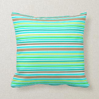 Brown azul y modelo moderno de las rayas verdes de cojines