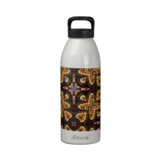 Brown, azul, y productos abstractos negros botella de agua reutilizable