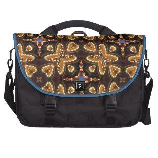 Brown, azul, y productos abstractos negros bolsas de portatil