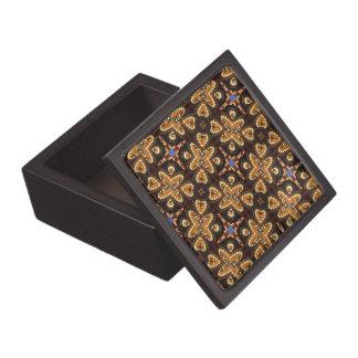 Brown, azul, y productos abstractos negros cajas de regalo de calidad
