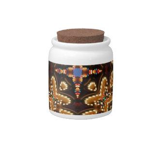 Brown, azul, y productos abstractos negros jarra para caramelo