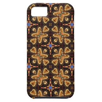 Brown azul y productos abstractos negros iPhone 5 protector