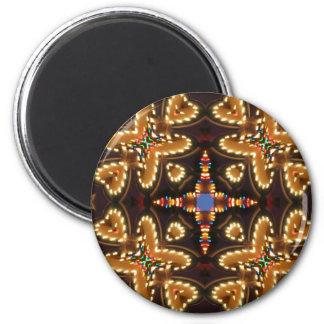 Brown, azul, y productos abstractos negros imán redondo 5 cm