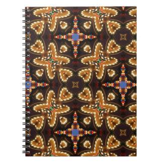 Brown, azul, y productos abstractos negros libro de apuntes