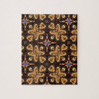 Brown, azul, y productos abstractos negros puzzle