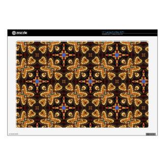 Brown, azul, y productos abstractos negros calcomanía para portátil
