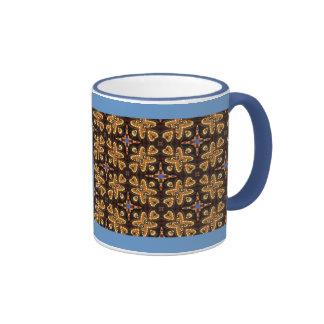 Brown, azul, y productos abstractos negros tazas de café