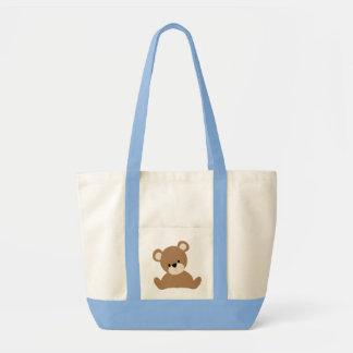 Brown Baby Bear Tote Bags
