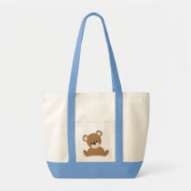 Brown Baby Bear Tote Bag