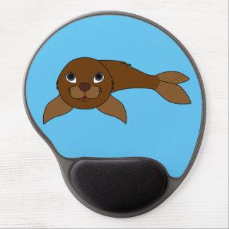 Brown Baby Seal Gel Mouse Pad