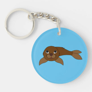 Brown Baby Seal Keychain