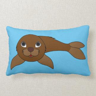 Brown Baby Seal Lumbar Pillow