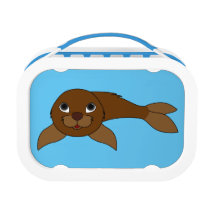 Brown Baby Seal Lunch Box