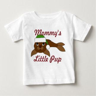 Brown Baby Seal with Christmas Green Santa Hat Shirt