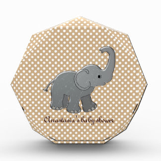 brown baby shower elephant acrylic award