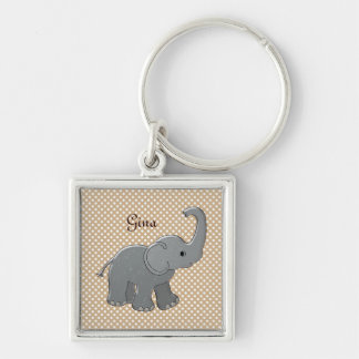 brown baby shower elephant keychain