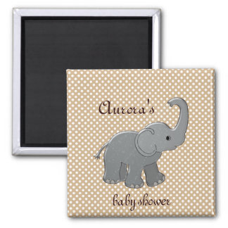 brown baby shower elephant magnet