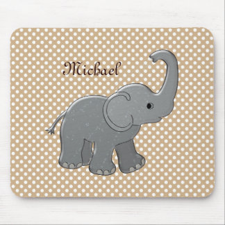 brown baby shower elephant mouse pad