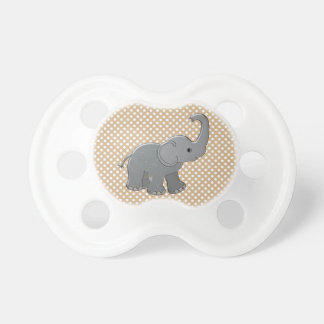 brown baby shower elephant pacifier