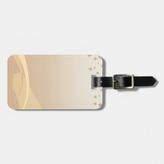 Brown Background Luggage Tag