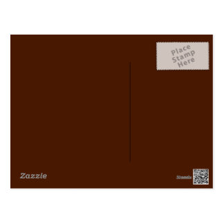 Brown Background on Postcard