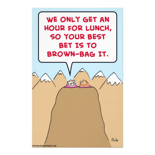 brown-bag gurus hour lunch stationery