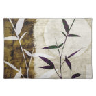 Brown Bamboo Moon Fall Leaves Cloth Placemat