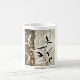 Brown Bamboo Moon Fall Leaves Coffee Mug