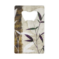 Brown Bamboo Moon Fall Leaves Credit Card Bottle Opener
