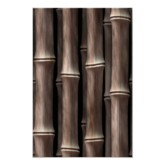 Brown Bamboo Stalks Poster