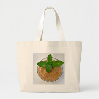 brown banana oregano smoothie and green peppermint large tote bag